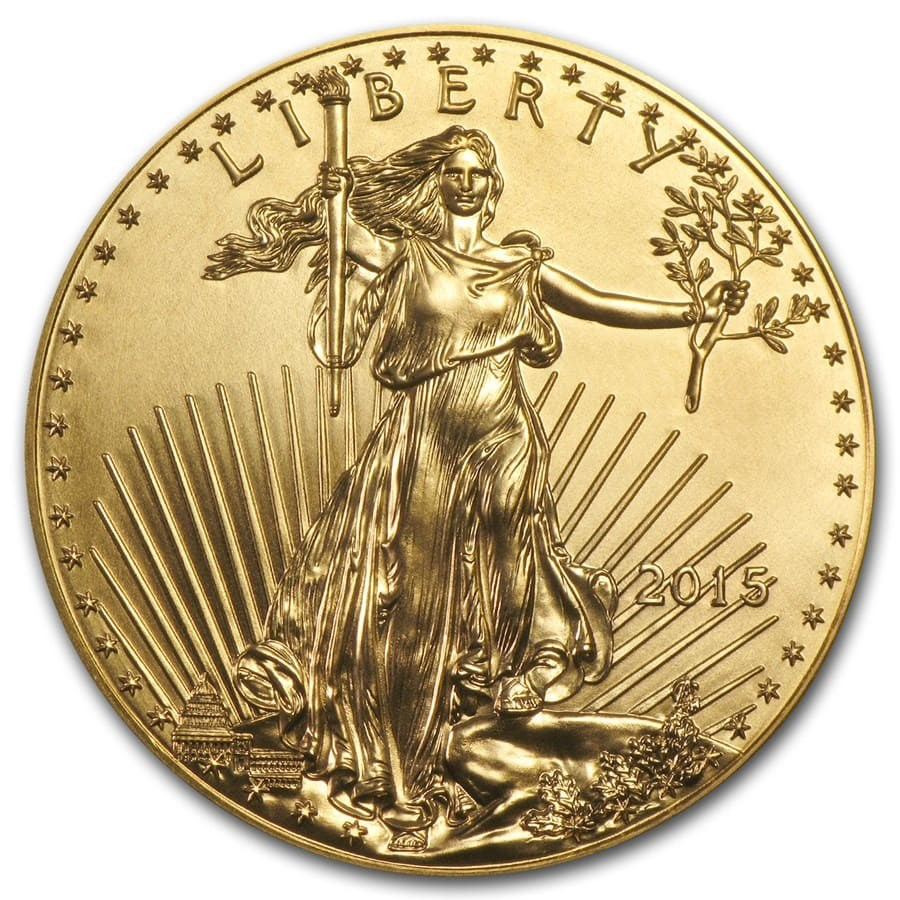 2015 1 Oz Gold Eagle Coin One Ounce Gold American Eagles